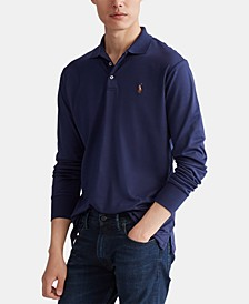 Men's Long Sleeve Soft Cotton Polo Shirt