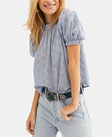 Letters To Juliet Eyelet Cotton Tie-Back Top