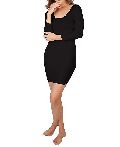 skinnytees 3/4 Sleeve Scoop Neck Dress