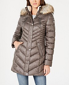 Chevron Puffer Coat