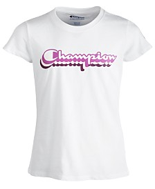 Champion Big Girls Retro Logo-Print T-Shirt