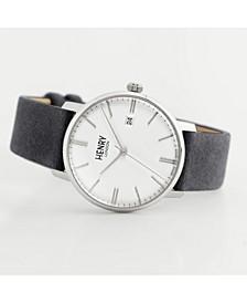 Unisex Regency Classic Analog Grey Suede Strap Watch 40 mm