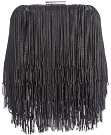 I.N.C. Colie Fringe Clutch, Created for Macy's