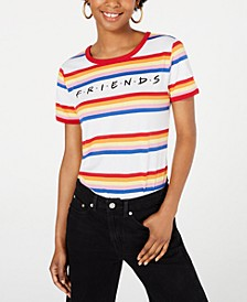 Juniors' Friends Logo Rainbow-Striped T-Shirt by Love Tribe