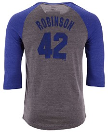 Majestic Men's Jackie Robinson Brooklyn Dodgers Coop Batter Up Raglan T-Shirt