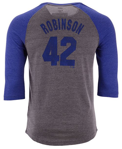 san francisco 3a547 a15b0 Men's Jackie Robinson Brooklyn Dodgers Coop Batter Up Raglan T-Shirt