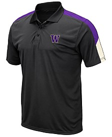Colosseum Men's Washington Huskies Color Block Polo