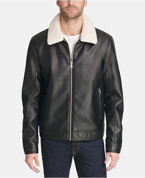 Tommy Hilfiger Men's Faux-Leather Jacket