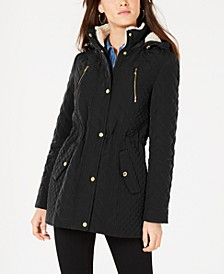 Petite Fleece-Lined Hooded Coat