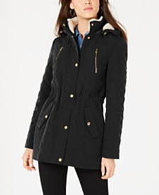 Laundry by Shelli Segal Fleece-Lined Hooded Anorak Jacket
