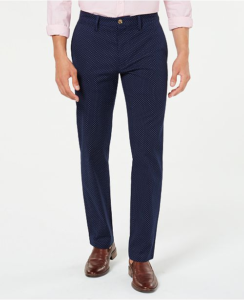 Club Room Men's Stretch Dot Pants, Created for Macy's