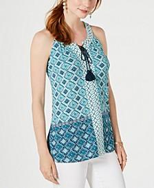 Printed Tassel-Tie Top, Created for Macy's