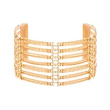 Steve Madden Women's Layered Bar Cuff Bracelet