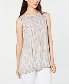 Eileen Fisher Silk Striped Tank