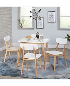 The Mezzanine Shoppe Modern 5 Piece Dining Set