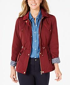 Petite Anorak Rain Jacket, Created for Macy's