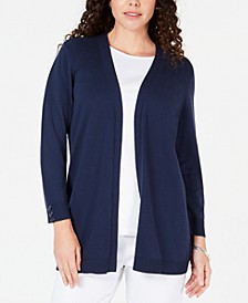 Open-Front Button-Cuffed Cardigan, Created for Macy's