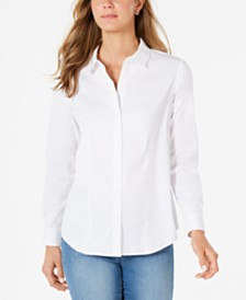 Charter Club Classic Button-Front Shirt, Created for Macy's