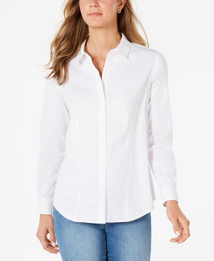 Charter Club - Classic Button-Front Shirt