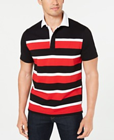 Club Room Men's Colorblock Stripes Rugby Polo Shirt, Created for Macy's