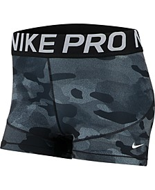 Women's Pro Camo-Print Training Shorts