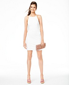 Juniors' Halter Ladder-Side Dress, Created for Macy's