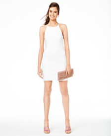 B Darlin Juniors' Halter Ladder-Side Dress, Created for Macy's