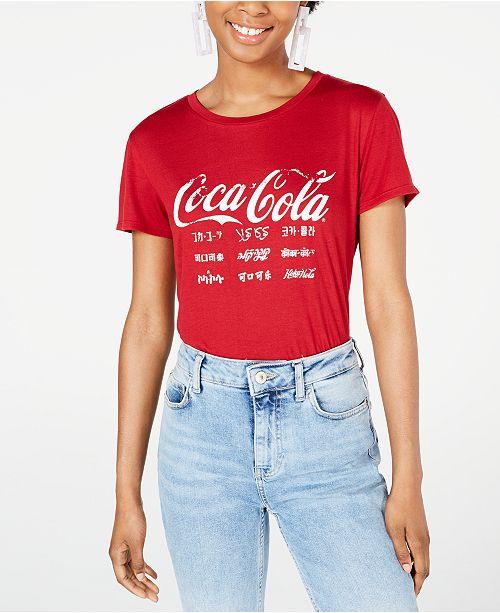 Freeze 24-7 Juniors' Coca-Cola Graphic T-Shirt