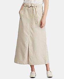 Lauren Ralph Lauren Petite Belted Canvas Skirt
