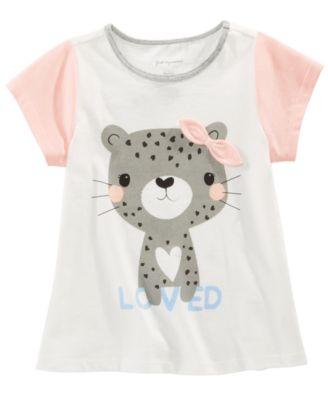 White Cheetah All Cotton T Shirts Fashion for Kids Shirt