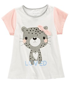 Toddler Girls Cotton Colorblocked Cheetah T-Shirt, Created for Macy's