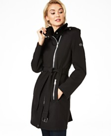 Calvin Klein Asymmetrical Hooded Raincoat