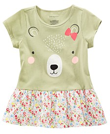 First Impressions Baby Girls Cotton Bear Tunic, Created for Macy's