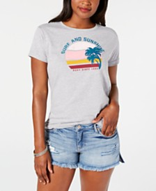 Roxy Juniors' Sunset Times Graphic-Print Boyfriend T-Shirt