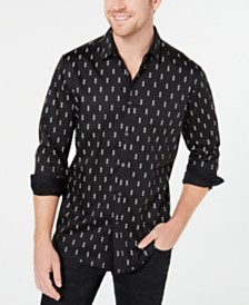 I.N.C. Men's Medallion Print Shirt, Created for Macy's