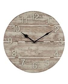 "La Crosse Clock 404-3430W 12"" Sun Washed Wood Wall Clock"