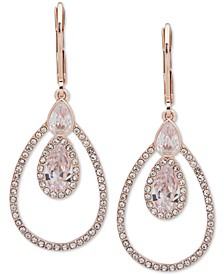 Rose Gold-Tone Crystal Orbital Drop Earrings