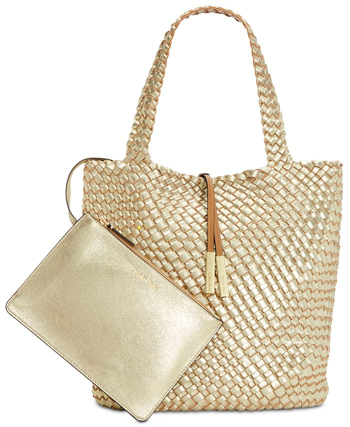 Calvin Klein - Woven North/South Novelty Tote