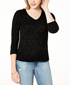 Metallic V-Neck Sweater, Created for Macy's