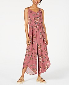 Juniors' Striped Tulip-Hem Jumpsuit, Created for Macy's