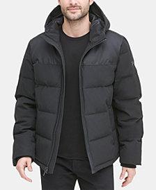 DKNY Men's Mixed-Media Puffer Coat, Created for Macy's