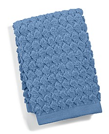 "Sculpted 13"" Square Turkish Cotton Washcloth, Created for Macy's"