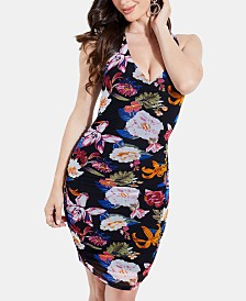 GUESS Cassandrea Ruched Bodycon Dress