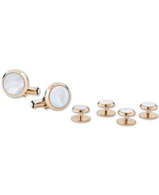 Men's Mother-of-Pearl Cuff Links & Tuxedo Studs