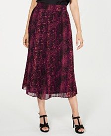 Thalia Sodi Pleated Midi Skirt, Created for Macy's