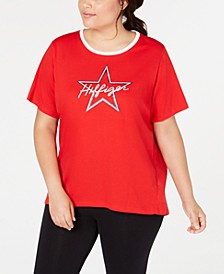 Plus Size Star Graphic T-Shirt