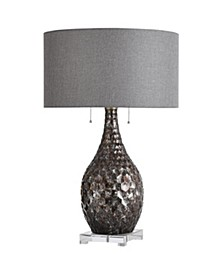 Lydney 27in Jane Seymour Branded Metal and Glass Table lamp