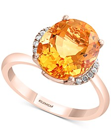 EFFY® Citrine (4-5/8 ct. t.w.) & Diamond Accent Ring in 14k Rose Gold