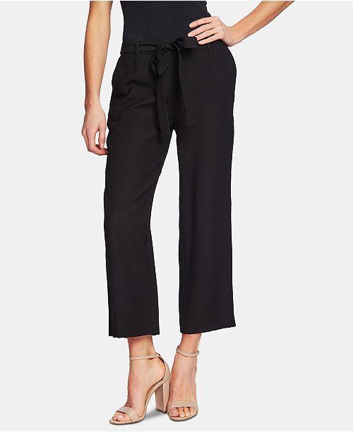CeCe Wide-Leg Belted Pants