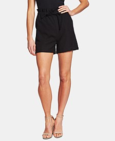 Paperbag-Waist Pull-On Shorts